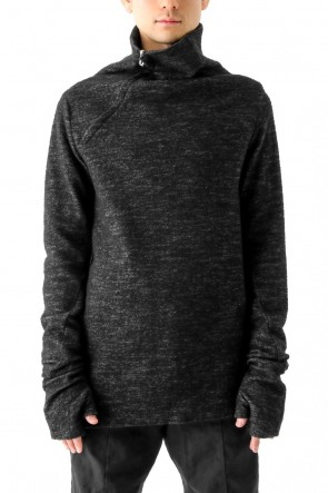 Wool Cotton Jersey High Neck Pullover