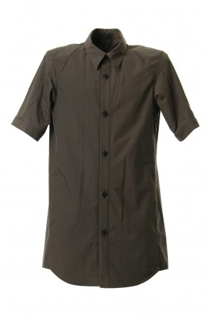 DEVOA 19SS Short Sleeve Shirt Cotton Hard Wash - Brown Gray