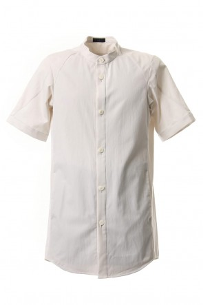 DEVOA 19SS Short Sleeve Shirt Egyptian ( FINX ) Cotton - White Gray