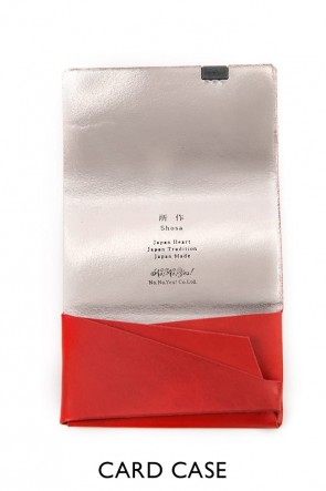 No,No,Yes!BASICNo,No,Yes!  -shosa- BASIC Card Case - Red x Silver
