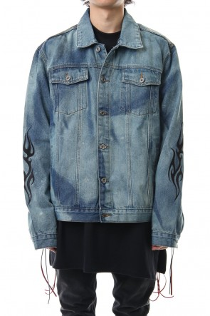 CAVIALE 19SS PAINT DENIM JACKET