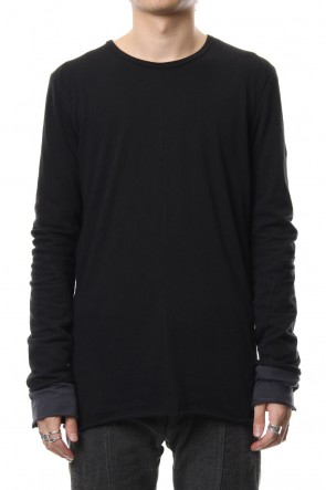 SADDAM TEISSY 18-19AW Neep silk × cotton jersey long sleeve T shirt