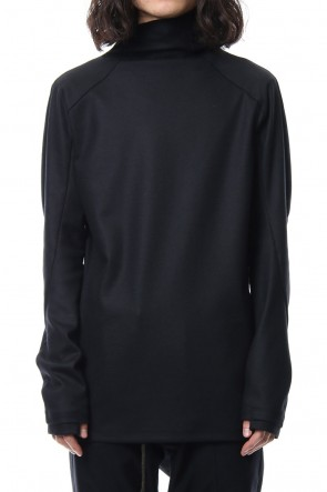 SADDAM TEISSY 18-19AW Super 100's wool smooth high neck long sleeve t-shirt