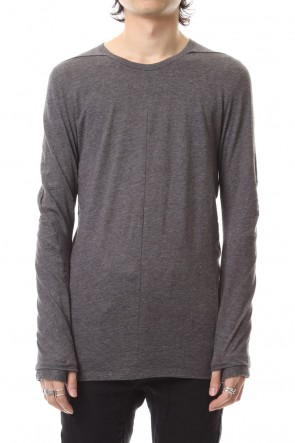 SADDAM TEISSY 19-20AW Yak india long sleeve T-shirts - ST101-0099A Charcoal
