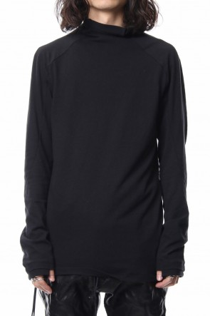 SADDAM TEISSY 18-19AW Neep silk × cotton jersey high neck  long sleeve T shirt
