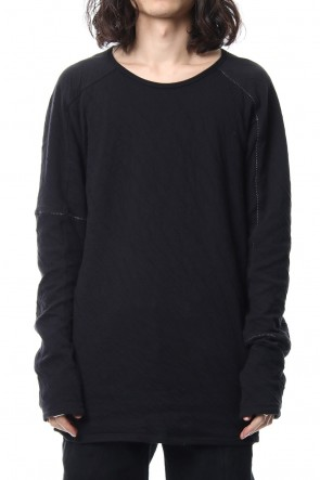 SADDAM TEISSY 18-19AW Double cloth cotton jersey overlock long sleeve T-shirt