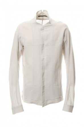 SADDAM TEISSY19SSLimited Japanese paper Cotton stand collar shirt - ST102-0049S White