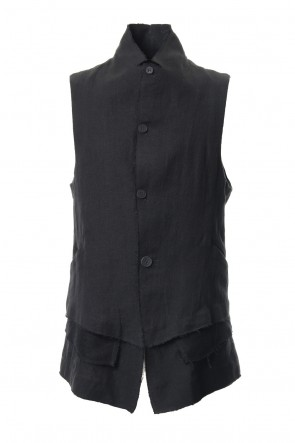 SADDAM TEISSY 19SS Linen tailored Vest - ST104-0059S