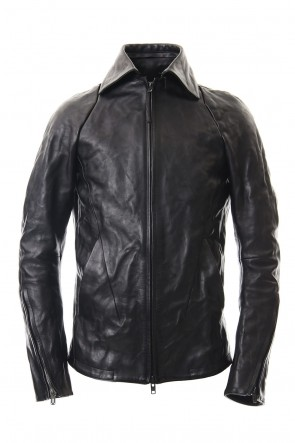 D.HYGEN 19-20AW Detachable collar Horse leather jacket - ST105-0019A