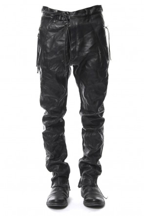 SADDAM TEISSY 18-19AW Washable bonding leather drop crotch pants