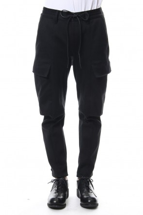 SADDAM TEISSY 18-19AW Heavy cotton jersey cropped cargo pants