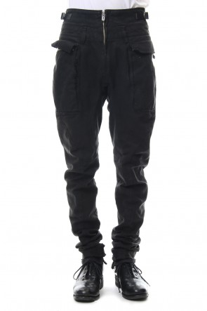 SADDAM TEISSY 18-19AW Dirty paraffin curve jodhpurs pants