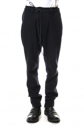 SADDAM TEISSY 19-20AW Wool Linen Tuck Tapered Pants Black - ST107-0099A