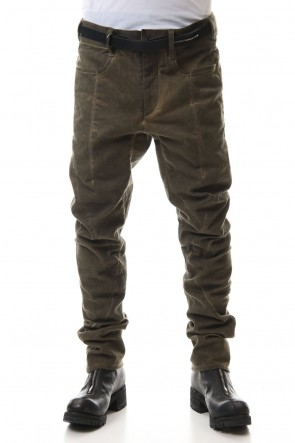 SADDAM TEISSY20-21AWCold dyed 3D Curve Slim pants Wood Brown