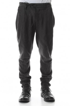 SADDAM TEISSY20SSInk Frow Dyed Linen Tuck Tapered Pants