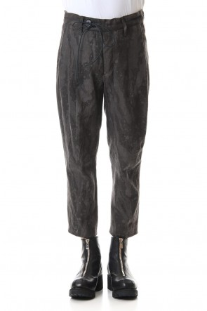D.HYGEN 20SS Ink Frow Dyed Linen Tuck Tapered Cropped Pants