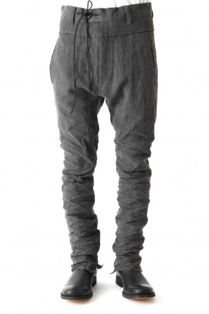SADDAM TEISSY 18SS Sumi Dyed Linen Drop Crotch Skinny Pants