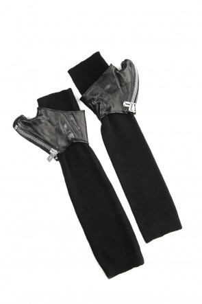 SADDAM TEISSY 19-20AW Horse Leather × Cashmere Combination Gloves - ST108-0059A