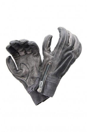SADDAM TEISSY 18-19AW Horse leather cold dye over lock glove