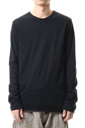 WARE 20SS Cotton W-face L/S T-Shirts Black x L.Brown