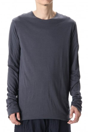 WARE 20SS Cotton W-face L/S T-Shirts Black x B.Gray