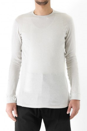 Long Sleeve Silk / Cotton Jersey White Gray