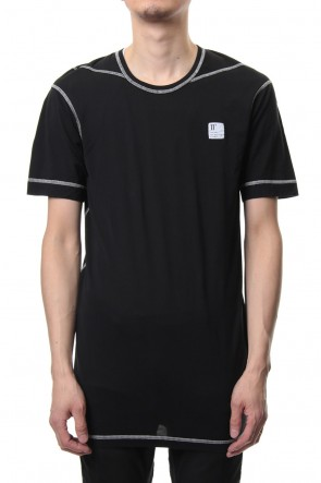 11 BY BORIS BIDJAN SABERI 19SS Lock stitch T-shirt