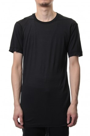 11 BY BORIS BIDJAN SABERI 19SS Lock stitch T-shirt (Black)