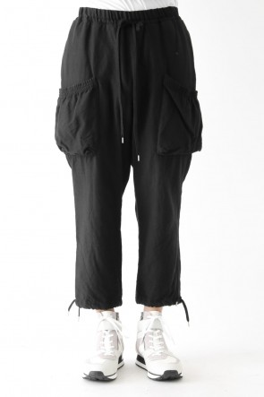 Wool Cotton Vintage-esque Twill Easy Pants