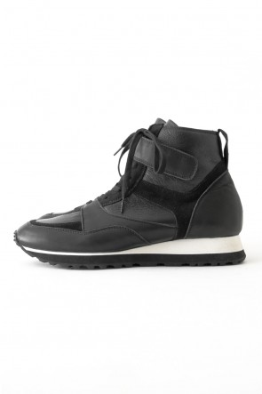 Leather High-cut Sneakers Black