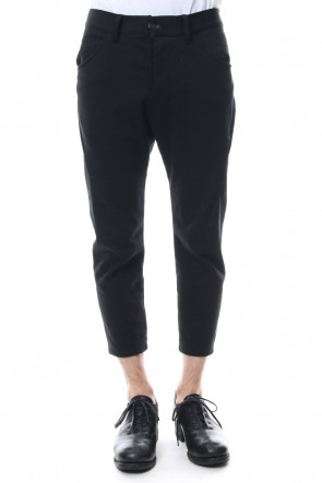 The Viridi-anne18SSHanging Inlay Cropped Pants Black