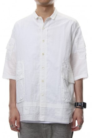 The Viridi-anne 18SS Short Sleeve Pocket Shirt Product Dye