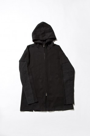 Cotton Nylon Cardboard Knit Parka