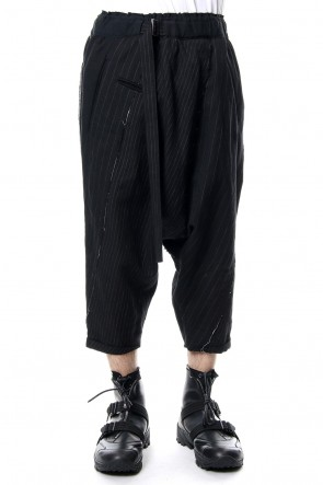 The Viridi-anne 18-19AW Random stripe drop crotch pants