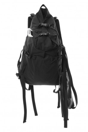 The Viridi-anne 18-19AW 'Macromauro' Cotton Nylon Backpack Small Black