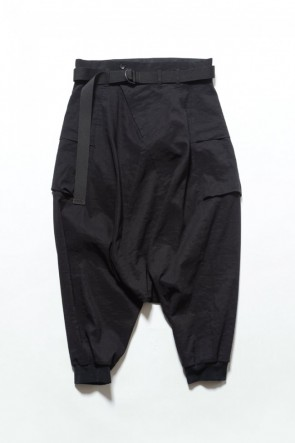 The Viridi-anne 19SS Saruel pants with belt Black