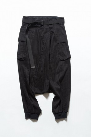 The Viridi-anne 19SS Saruel pants with belt Black Stripe