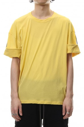 The Viridi-anne 19SS Hard twist jersey stitch roll up sleeve t-shirt Yellow