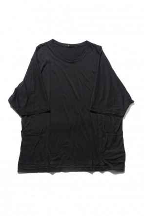 The Viridi-anne 19SS Cotton silk big T-shirt Black