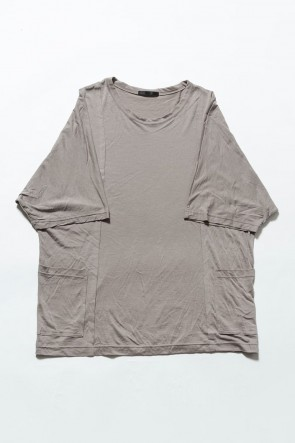 The Viridi-anne 19SS Cotton silk big T-shirt G.Beige