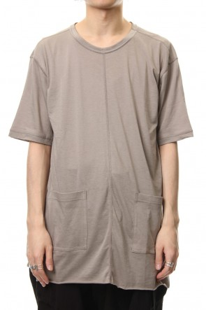 The Viridi-anne 19SS Cotton silk hem pocket T-shirt G.Beige