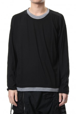 The Viridi-anne 19SS Cotton silk long sleeved T-shirt Black