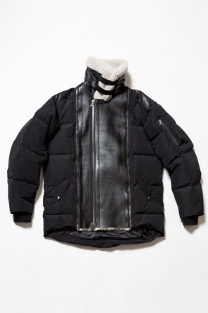The Viridi-anne 19-20AW Mouton Nylon Down Jacket