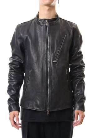 The Viridi-anne 19-20AW Calf Single Biker Jacket