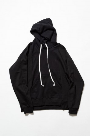 The Viridi-anne 19-20AW Fleece Lining Combination Hoodie - Black