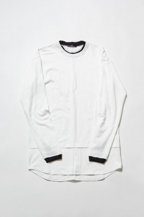 The Viridi-anne19-20AWJersey stitch Long sleeve T - White