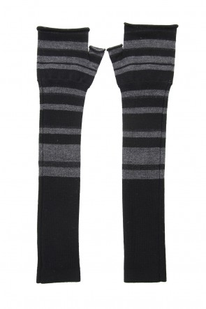 The Viridi-anne 19-20AW Arm warmer - Black Stripe