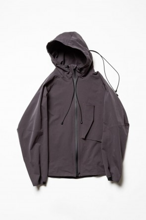 The Viridi-anne 20SS Water-repellent Stretch Mountain parka Gray