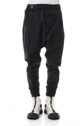 The Viridi-anne 20SS Water-repellent Stretch Jogger pants Black