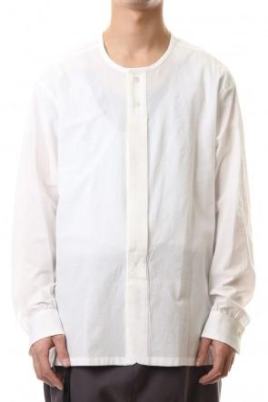 The Viridi-anne 20SS Salt shrinkage Long sleeve Collarless shirt